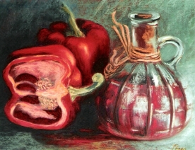 Red pepper relish (soft pastel, 2002)